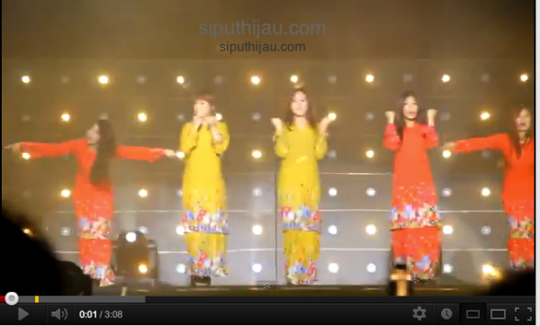 (video) wonder girls berbaju kurung wonder world tour malaysia 2012 concert