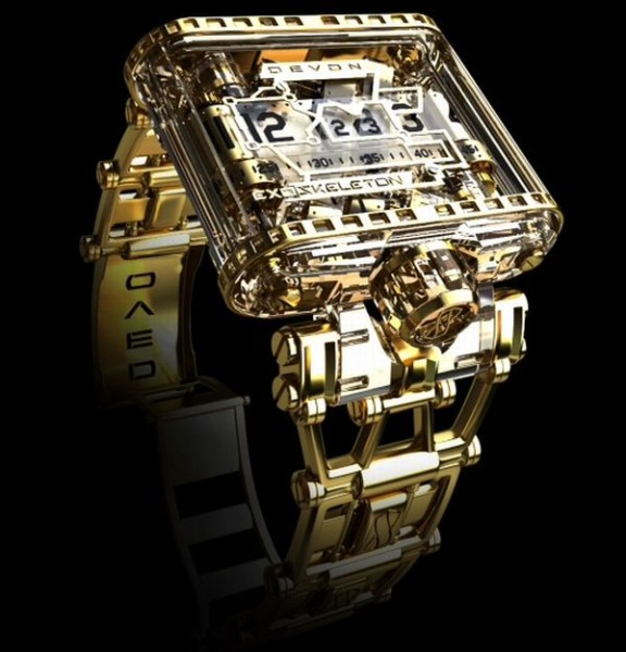 Devon-Tread-1-Exoskeleton-Gold-watch